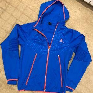 Nike Air Jordan jacket royal blue and orange